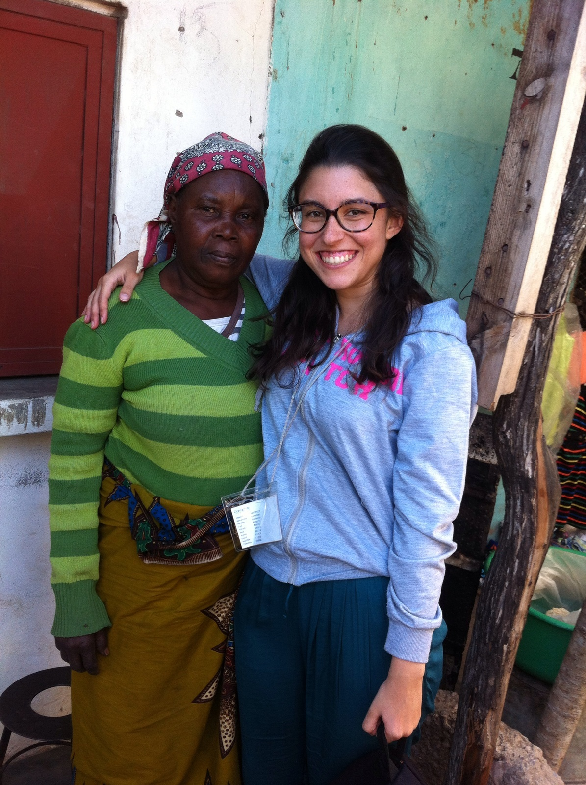 Joana with an Interviewee in Mozambique